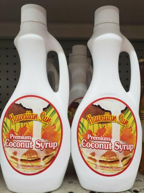2  BOTTLES  HAWAIIAN SUN coconut syrup - 12.5 OZ pancake waffle