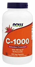 Now Foods Vitamin C-1000, 250 caps IMMUNE ANTIOXIDANT with Rutin & Bioflavinoids