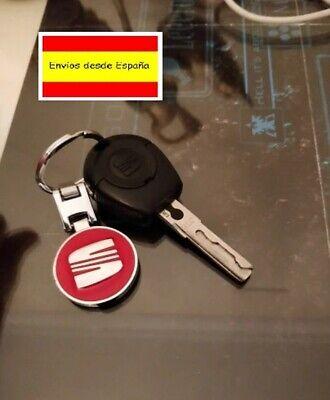 llavero de coche diseño cromado SEAT LEON IBIZA ALTEA XL