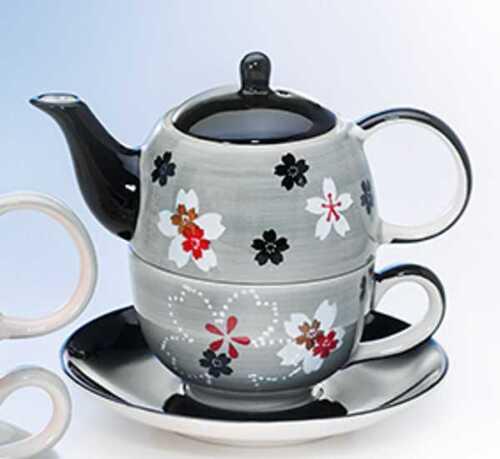 Tea for One Set Fiorina une théière tasse soucoupe céramique