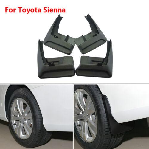 For Toyota Sienna 2011-2017 4pcs ABS Mud Flaps Splash Guards Fender Mudguard