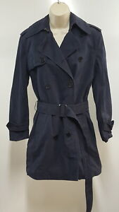 Ralph Lauren Black Label Womens Classic Trench Coat Double Breasted Belted 6