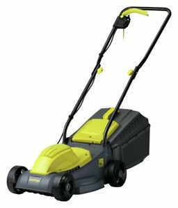 Challenge Electric Lawnmower 31cm Steel Blade 3 Heights 30L - 1000W