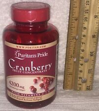 Puritan's Pride Cranberry Fruit Concentrate With C E 4200 MG 250 Softgels