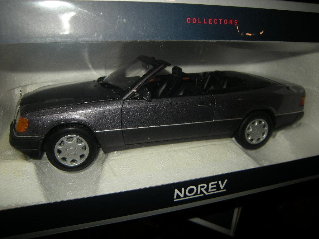 1 18 Norev Mercedes-Benz 300 ce-24 Cabriolet 1990 violet violet Nº 183567 neuf dans sa boîte