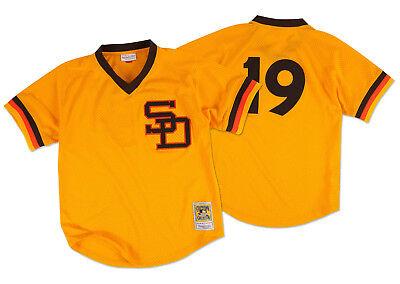 Neueste Kollektion Von Mitchell & Ness San Diego Padres Tony X 1982 Authentisch Netz Bp Herren Trikot Auswahlmaterialien Sport Fanartikel
