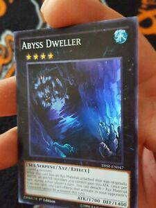 Yugioh-Abyss-Dweller-1st-edition-super-rare-THSF