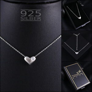 Herz-Kette-Halskette-925-Sterling-Silber-Damen-SWAROVSKI-ELEMENTS-inkl-ETUI