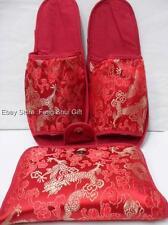 Chinese Oriental Ladies Women Silk Spa Travel Airplane Shoe Slipper Sandal #QC
