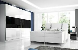 hochglanz schlafzimmer set rivabox boxspringbett schrank 2 nachttische ebay. Black Bedroom Furniture Sets. Home Design Ideas