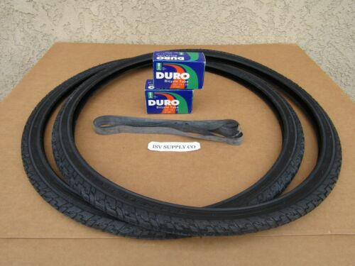 NEW 24/'/'X1-3//8 ALL BLACK BICYCLE OR WHEEL-CHAIR TIRES 2 LINER TUBES /& 2 2