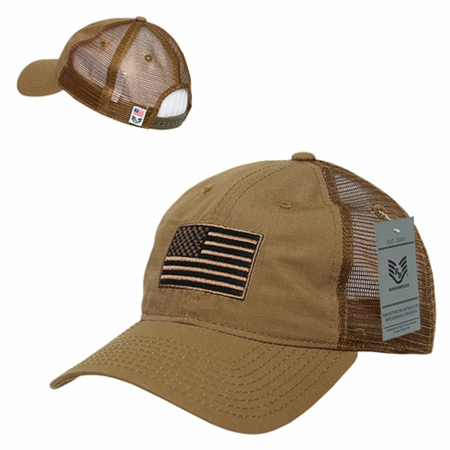 Coyote USA American Flag Patch United States Tactical Operator Baseball Hat Cap