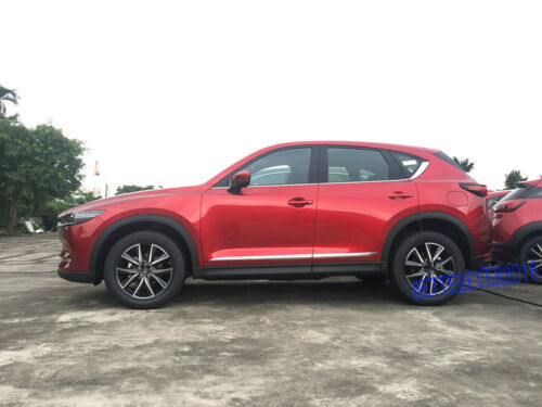 4pcs Chrome Body Side Molding Cover Trim Garnish fit for 2017-2019 Mazda CX-5