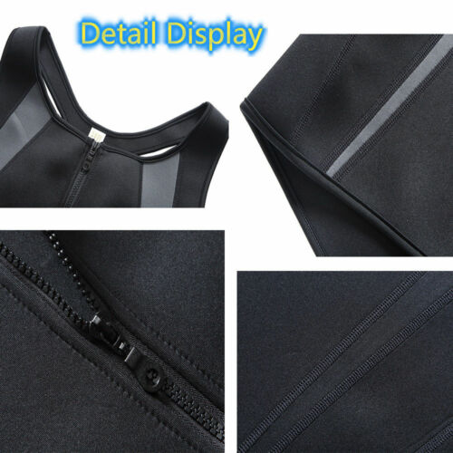Men New Workout Lose Weight Slimming Sweat Vest Shaper Muscle Training Tank Top
