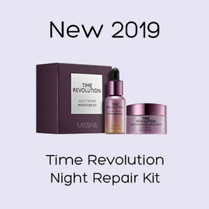 Details about Missha NEW 2019 Time Revolution Night Repair Sample Kit /  Free Gift / K Beauty