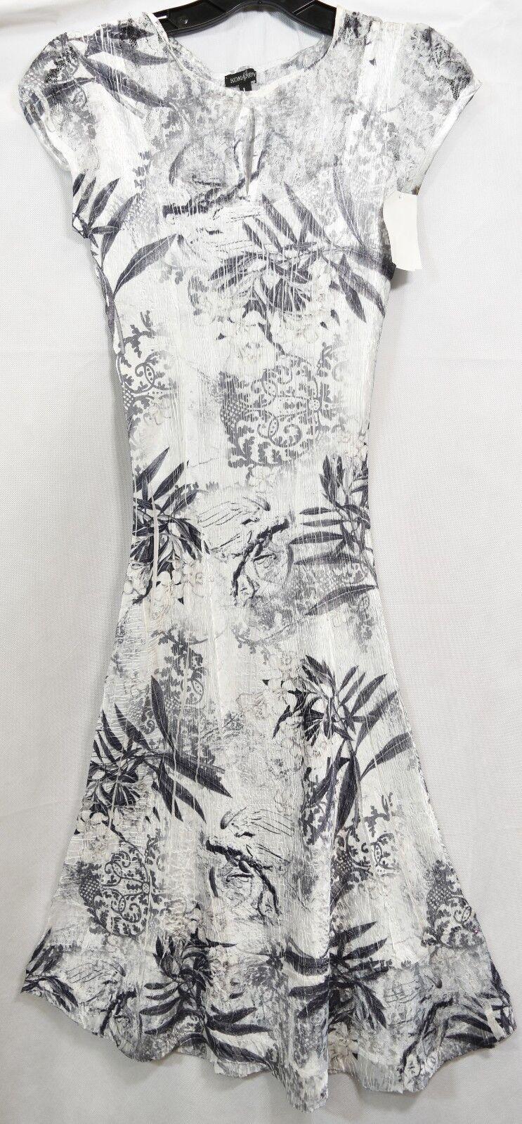 300 KOMAROV Cap Sleeve Keyhole Fit & Flare Dress Dress Dress Floral  Wedding WALL FLOWER a39b7c