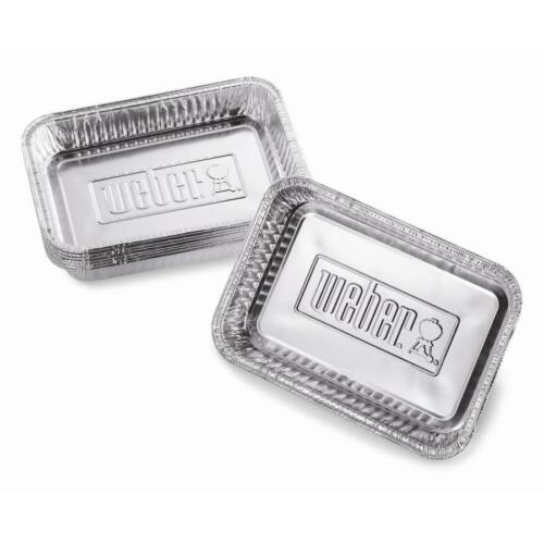 Weber 10-Pack 8.6-in L x 6-in W Disposable Aluminum Foil Grill Drip Pan Great