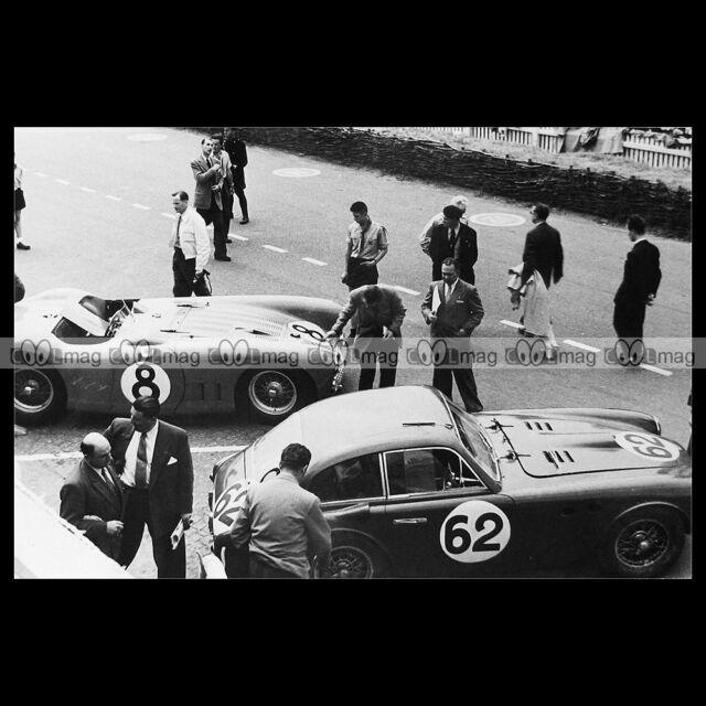 #pha.014437 Photo 24 HEURES DU MANS 1952 TALBOT LAGO T26 FERRARI FERRARI 250 S
