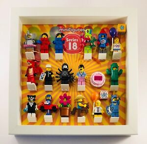 Details Zu Lego Minifigures Display Case Frame Series 18 Minifigs Figures 40 Years
