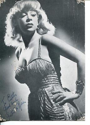 d. 1975 Signed Autographed Vintage Autograph Album Page Gertrude Niesen