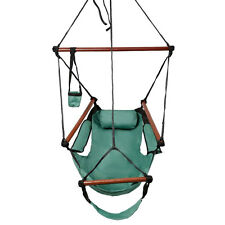 deluxe air hammock hanging patio tree sky swing chair outdoor porch lounge green deluxe hammock hanging patio tree sky swing chair outdoor porch      rh   ebay