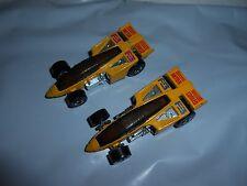 VARIATION LOT/SET OF 2 VTG 1987 HOT WHEELS F-3 INTER COOLED INDY FORMULA 1 RACER