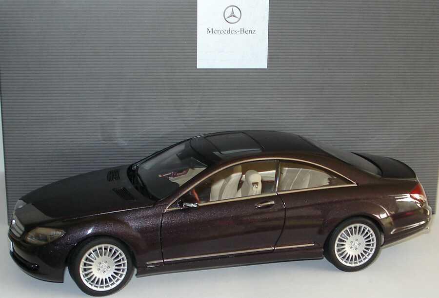 AUTOART Mercedes CL Coupe C216 German gris Metallic Rare Dealer Edition 1 18