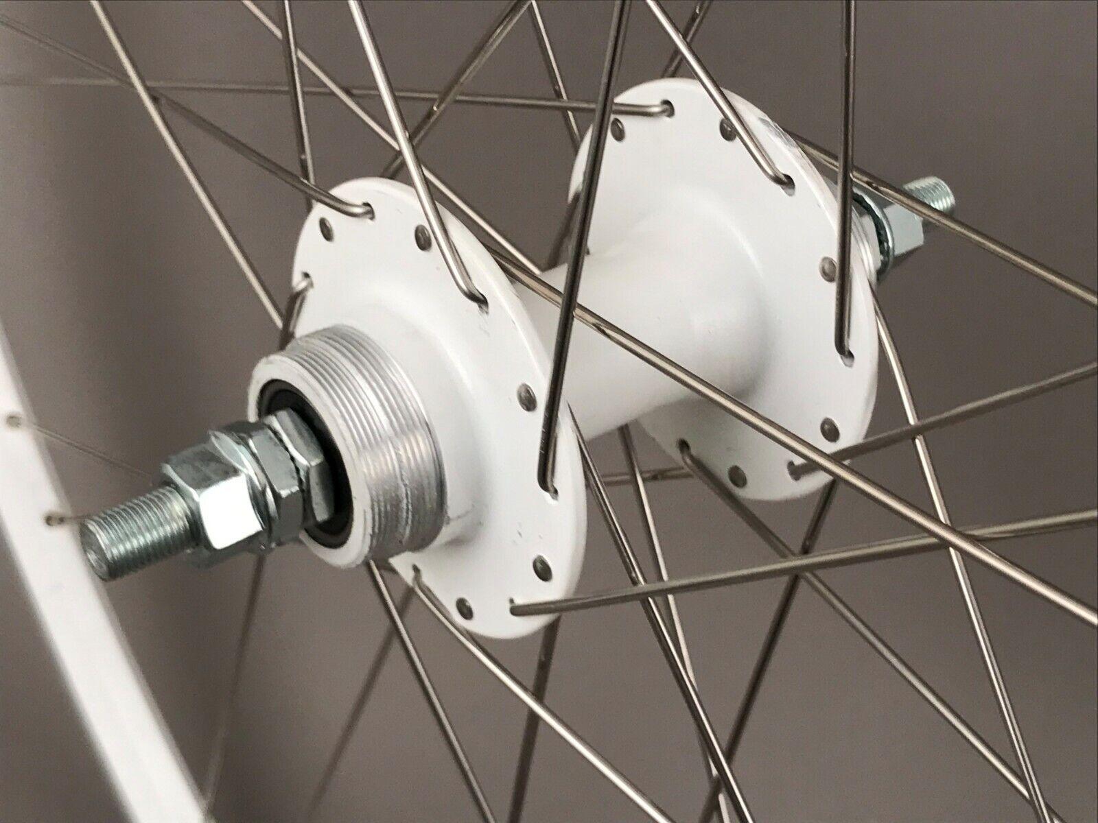 Image 2 - Mach1 Omega Fixed Freewheel Track Single Speed Bike Rear Wheel Clincher 28 Spoke