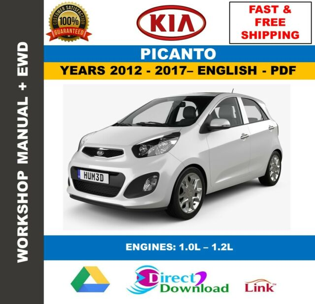 Workshop Manual Kia Picanto 2012
