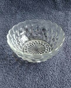 Vintage Hobnail Bubble Glass Dessert Bowls By Anchor Hocking Glass 1963