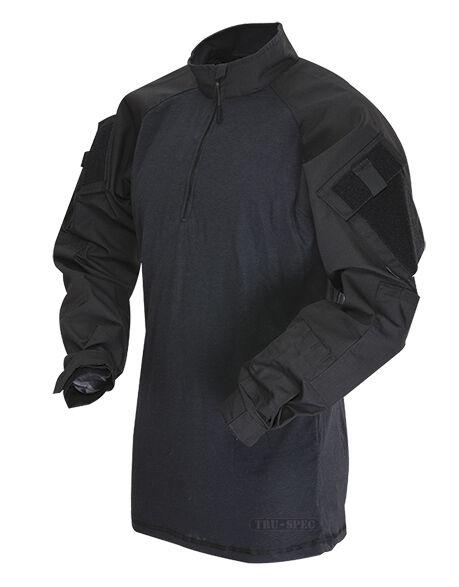 Con cremallera de 1 4 Táctico Militar Uniforme De Combate Camisa Camo por Tru-spec 2566-Negro