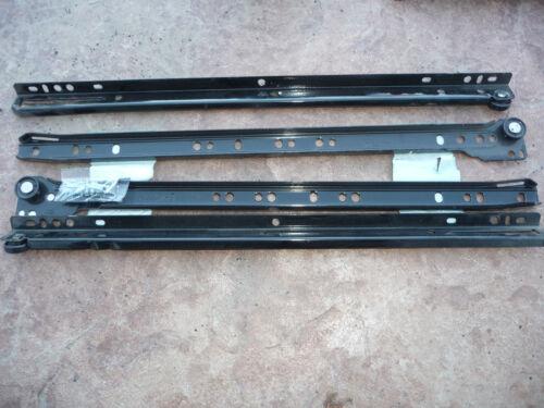 "NEW 16/"" BOTTOM MOUNT LIBERTY DRAWER SLIDES 2 PACK KITCHEN CABINETS BLACK D68816C"