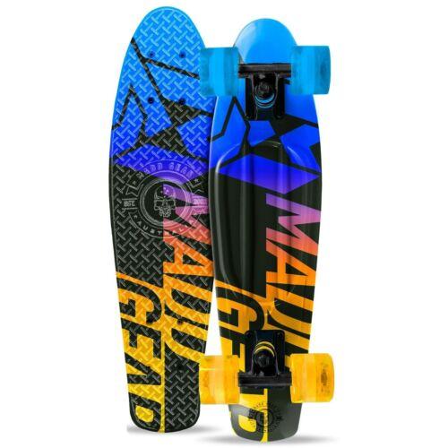 Madd Gear Urban Retro Skateboard Blue Yellow Fade