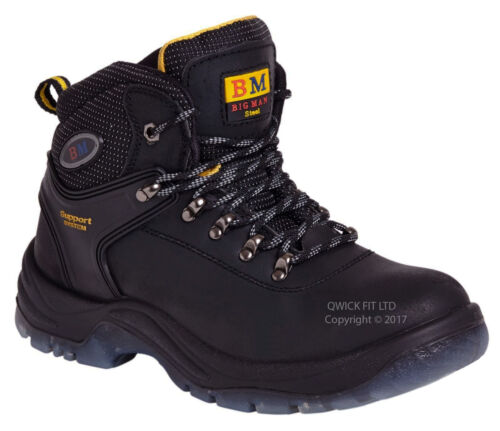 MENS SUPPORT SYSTEM SAFETY WORK BOOTS DURABLE HIKER TRAINERS SHOES STEEL TOE CAP