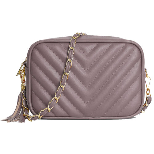 New Designer Inspired Quilted Chevron Mini Bag Womens Shoulder HandBag Gift Idea