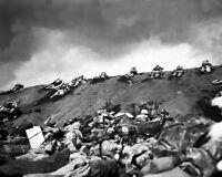 8x10 World War Ii Photo: 5th Division Marines On Red Beach 1, Iwo Jima Beach