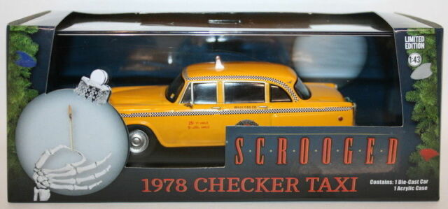 Greenlight 1/43 Scale - 86075 - 1978 Checker Cab Taxi - Scrooged -Bill Murray