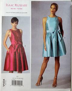 Ajuste Blusa Size Vestido De 6 14 Detalles Vogue Cierre 22v1434 Patrón Or Forrado UqpzMVS