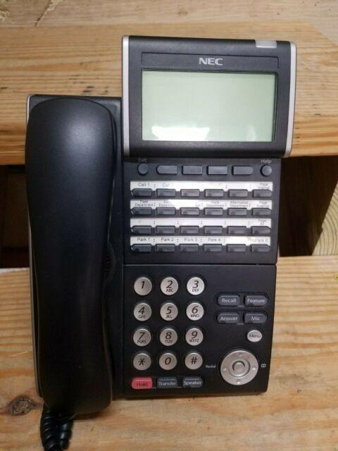 NEC Office Phone DTL 12D 1 BK TEL DT300 Series Phone DLV XD Z Y BK Black EUC