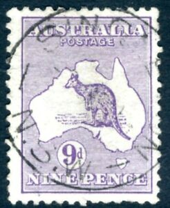 Australie - 1913 9d Violet Sg 10 Bon D'occasion V15350-afficher Le Titre D'origine