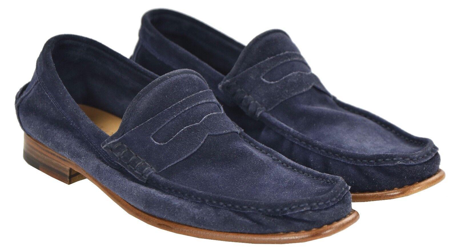 NEW KITON NAPOLI LOAFERS LOAFERS LOAFERS scarpe 100% LEATHER SUEDE Dimensione 7.5 US 40.5 EU 19O38 fcbce5