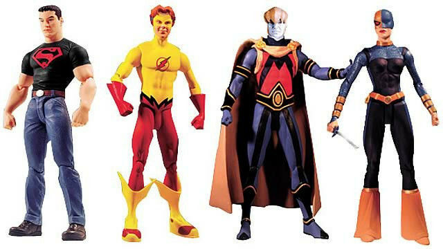 DC Direct_Teen Titans Series  2_SUPERBOY_KID FLASH_BROTHER BLOOD_RAVAGER figures