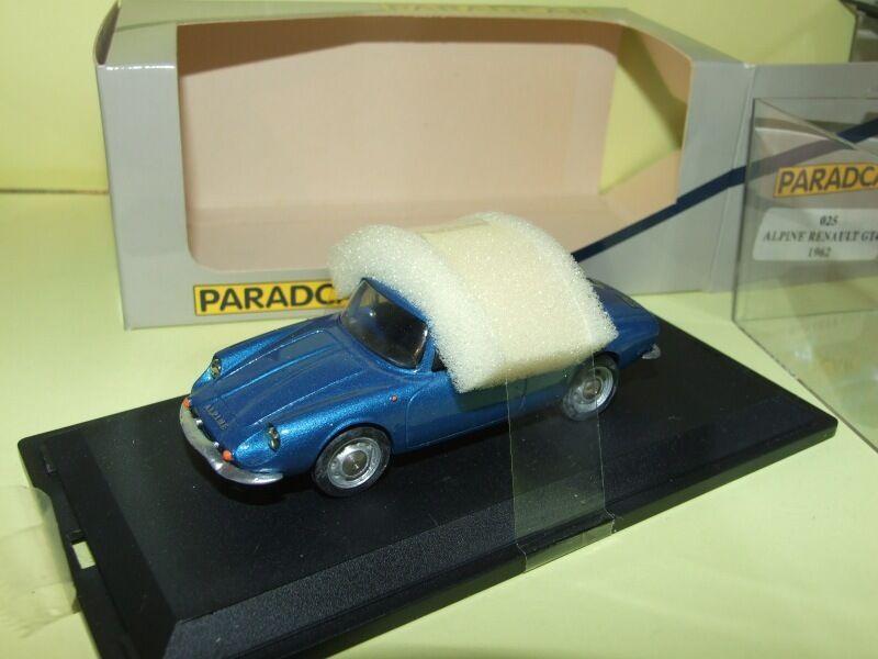 RENAULT ALPINE A110 GT4 azul 1962 PARADCAR 024 1 43 résine