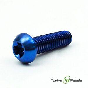 1x Titanschraube M8 x 30 mm, ISO 7380, Gr5, Linsenkopf, blau, Innensechskant