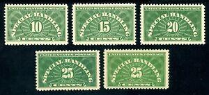 USAstamps-Unused-VF-US-Special-Handling-Set-Sct-QE1-QE2-QE3-QE4-QE4a-OG-Mint