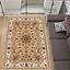 miniature 1 - Teppich Persisch Orientalisch Klassisch mit Ornament Wohnzimmer Beige 7 Größen
