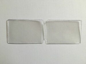 image is loading individual plastic credit card inserts for credit card - Plastic Card Holder