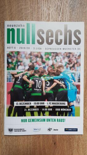 PRG SC  Preußen Münster 1860 München 21.12.2019 neu 1.FC Magdeburg 13.12.2019