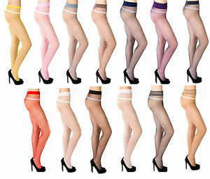 Sexy-Ladies-Fishnet-Tights-by-Romartex-14-Various-Colours-Size-S-M-L-XL