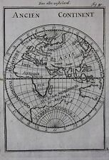 Original antique map EASTERN HEMISPHERE, EUROPE, ASIA, AFRICA,  Mallet c.1686